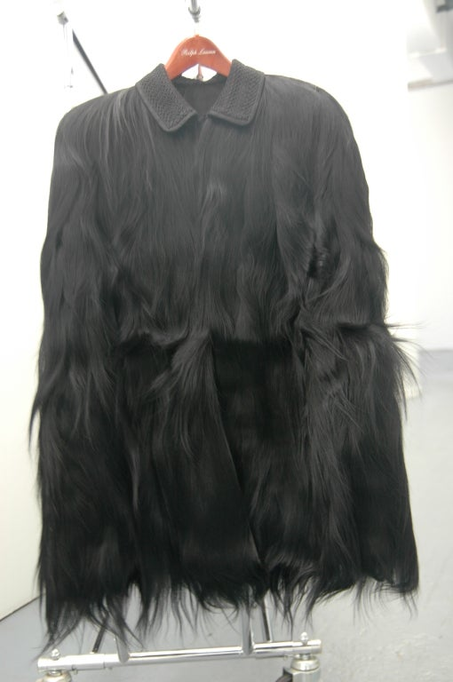 Vintage Monkey Fur Jackets for Assembly into a Throw Blanket In Fair Condition For Sale In NYC, NY