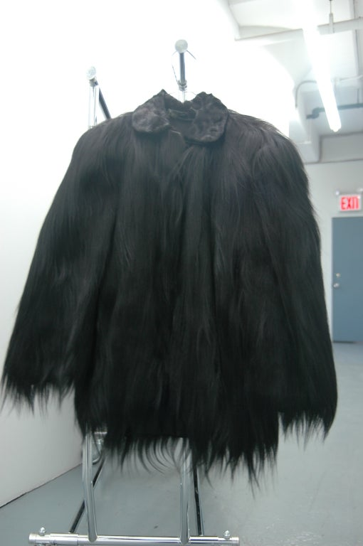 Vintage Monkey Fur Jackets for Assembly into a Throw Blanket For Sale 1