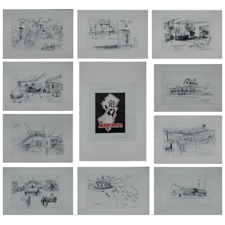 'the Sopranos' Set Designs by Dean Taucher For Sale