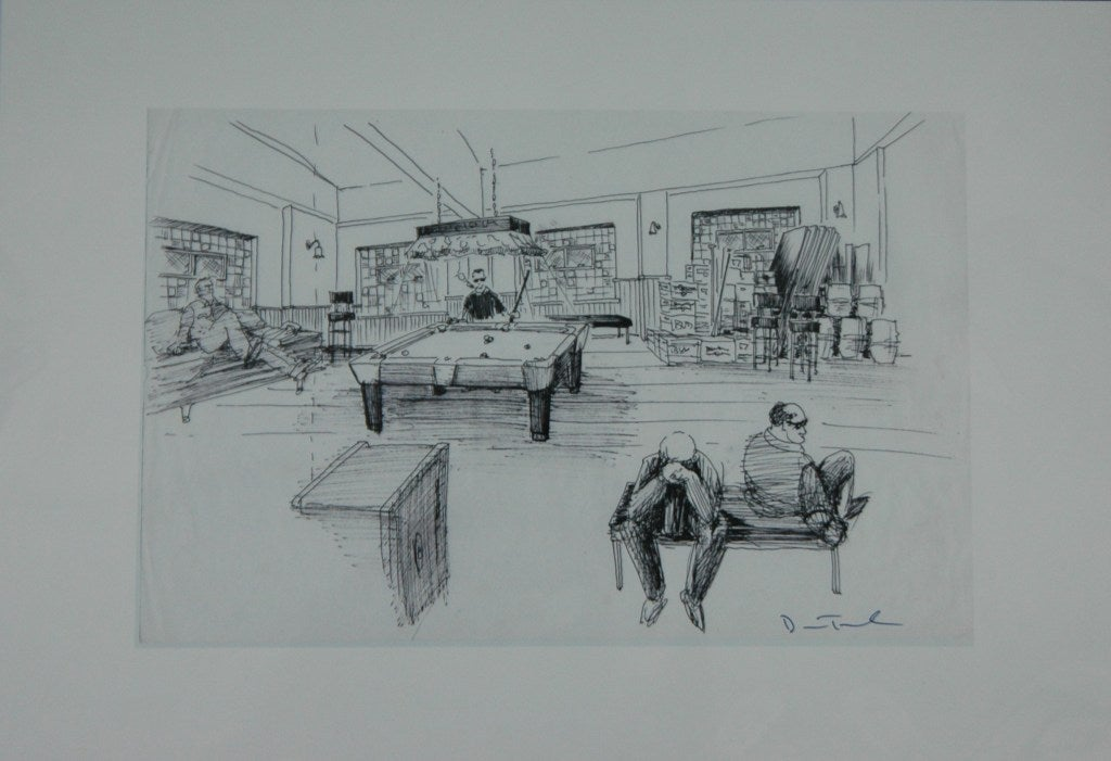 'the Sopranos' Set Designs by Dean Taucher In Good Condition For Sale In NYC, NY