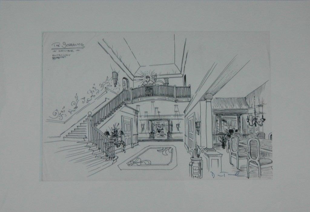20th Century 'the Sopranos' Set Designs by Dean Taucher For Sale