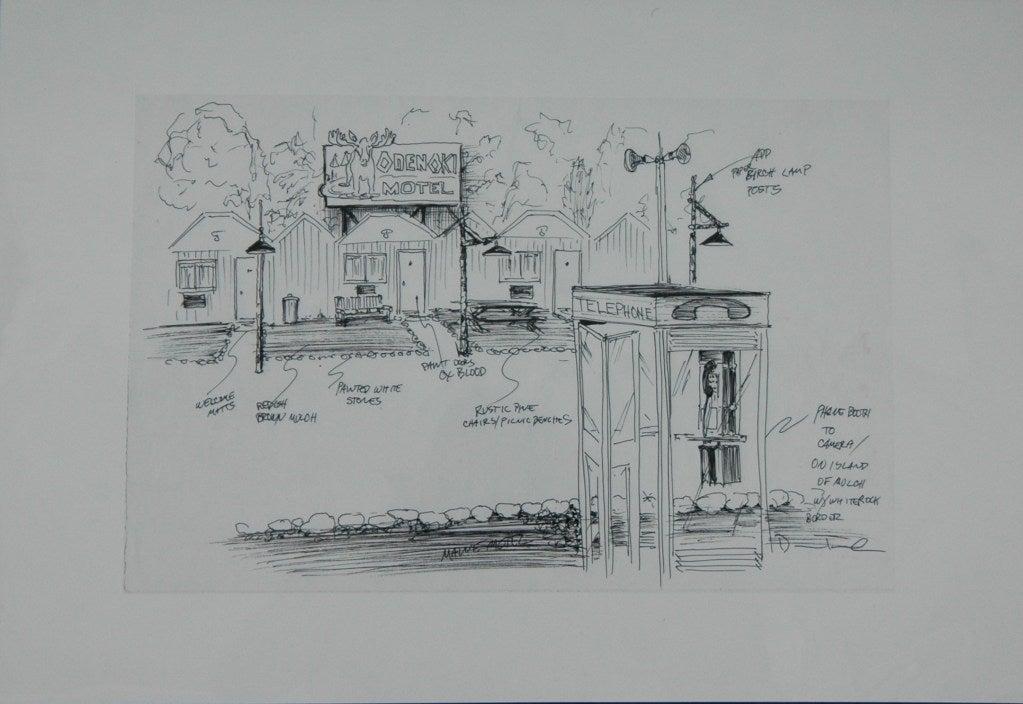 'the Sopranos' Set Designs by Dean Taucher For Sale 2