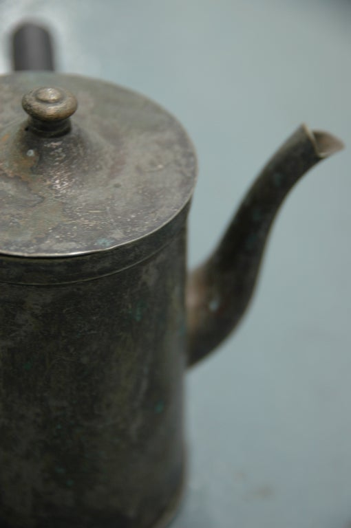 Straight Handled Tea Kettle In Good Condition For Sale In NYC, NY