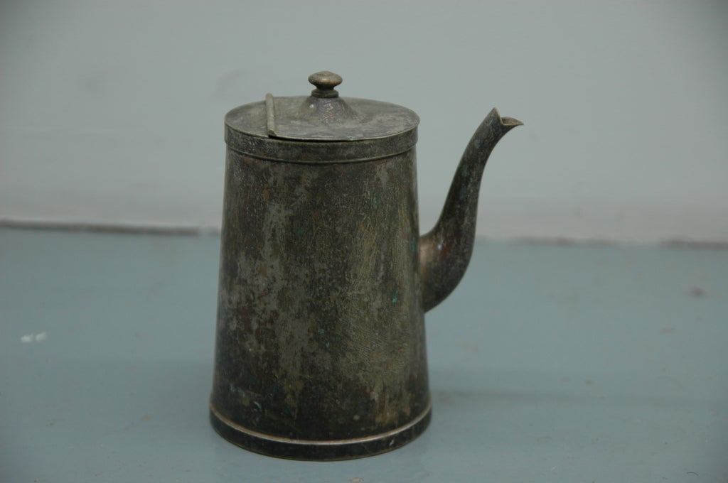 Metal Straight Handled Tea Kettle For Sale