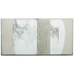 """Diptych"" 1983 Mixed Media by Dorothy Ruddick"