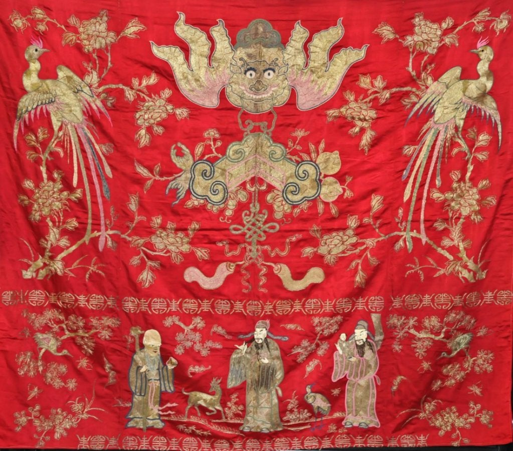 A remarkable chinese embroidered ceremonial tapestry panel at 1stdibs - Japanese remarkable ...