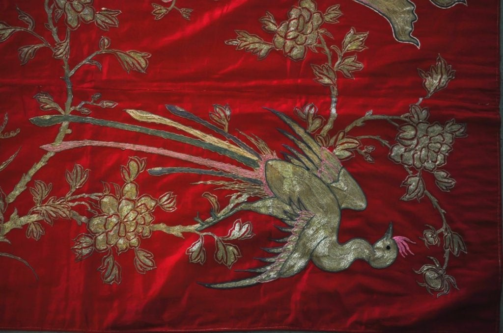 Remarkable chinese embroidered ceremonial tapestry panel for sale at 1stdibs - Japanese remarkable ...