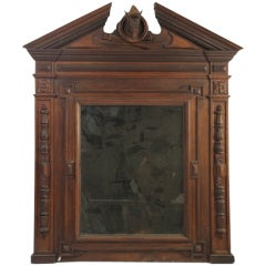 Powerful Over-Mantle in Walnut, American