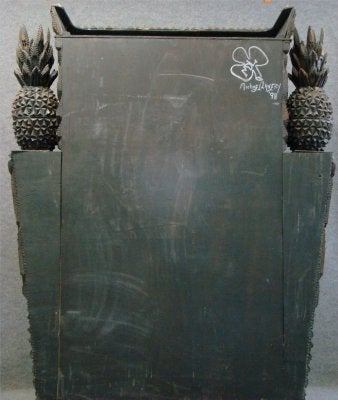 Tramp Art Cabinet, Signed by Michael Lavery For Sale 3