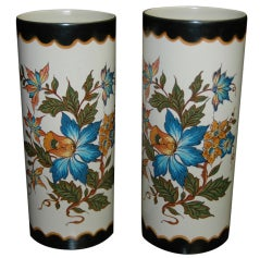Pair of Art Deco Ceramic Vases, Netherlands, circa 1930