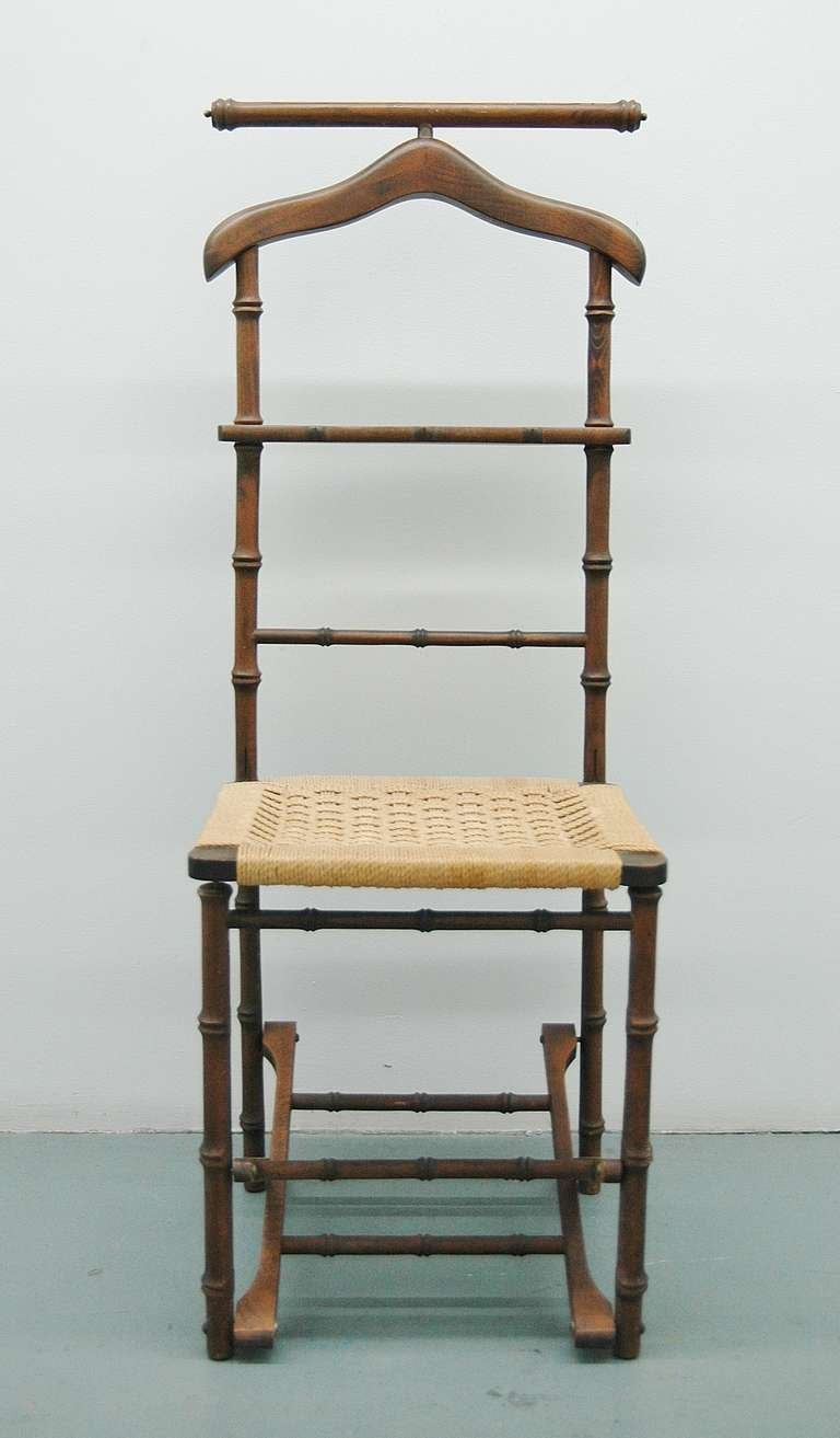 An Italian Folding Valet Chair At 1stdibs