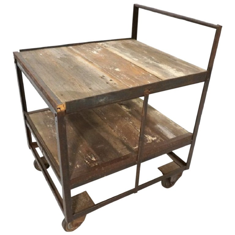 Industrial Rolling Cart with Three Tiers