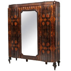 Italian Rosewood Armoire Attributed to Gaetano Borsani