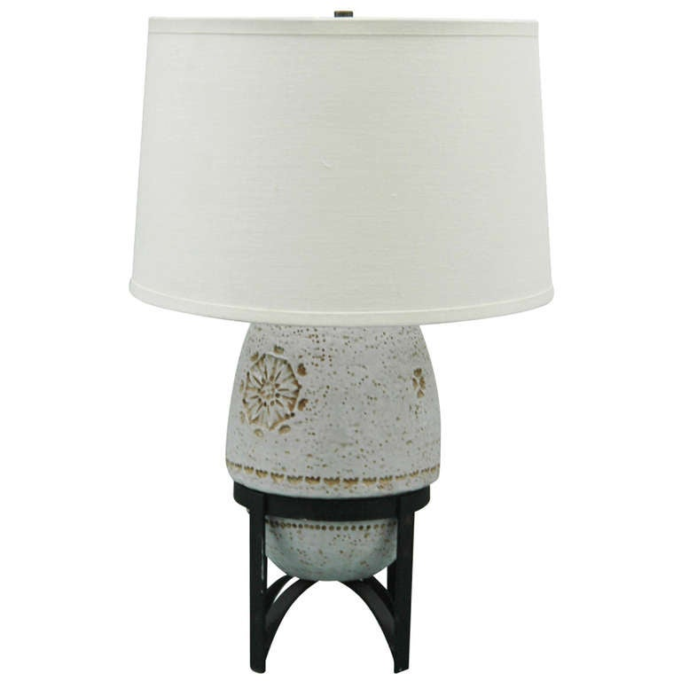 Bitossi for Raymor Italian Pottery Table Lamp For Sale