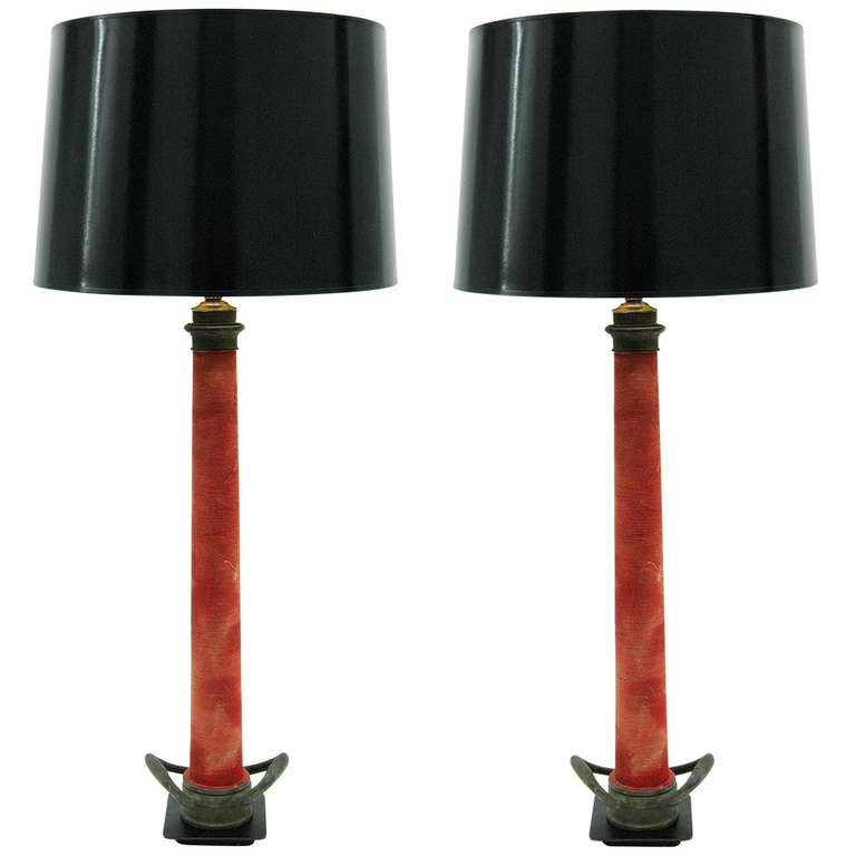 Pair Of Vintage Fire Hose Table Lamps At 1stdibs