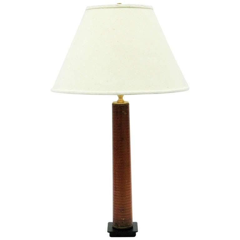 vintage thread spool table lamp for sale at 1stdibs. Black Bedroom Furniture Sets. Home Design Ideas