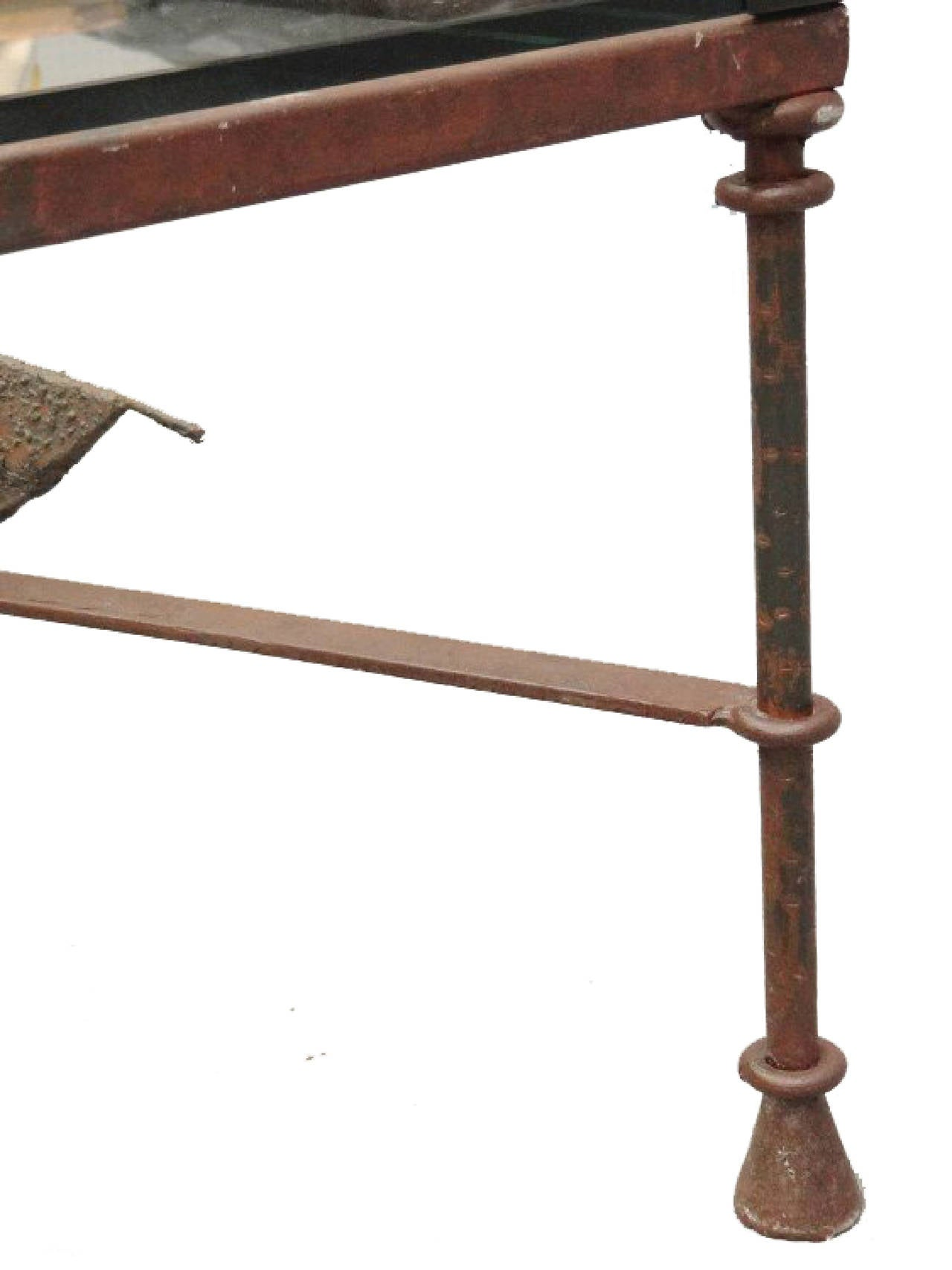 Pair Of Wrought Iron Coffee Tables In The Manner Of Giacometti At 1stdibs