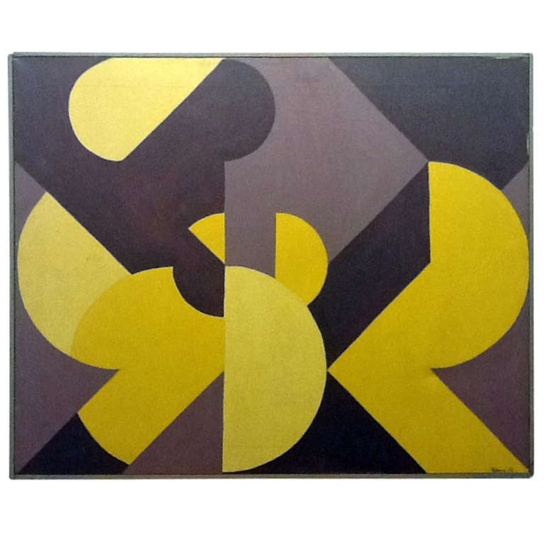 Acrylic on Canvas, Signed Klein, 1969
