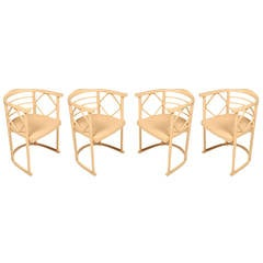 Set of Four Chairs in the Manner of Josef Hoffmann