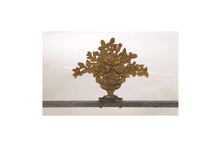 Gilt Neoclassical Bronze and Iron Console Table For Sale