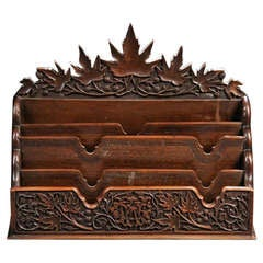 Remarkable Black Forest Carved Letter Box- SALE PRICE