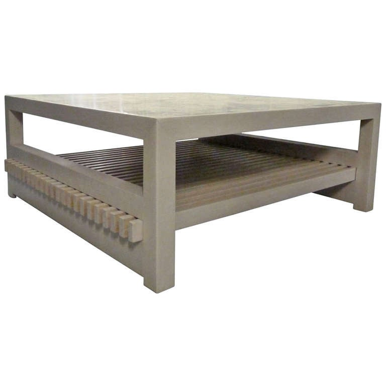 Slatted Coffee Table At 1stdibs