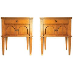 Pair of Bedside Tables by Decaux and Maous