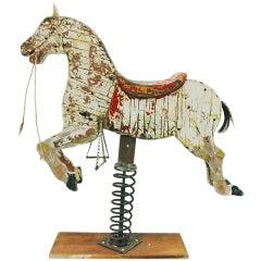 Impressive Antique Wooden Rocking Carousel Horse- SALE PRICE