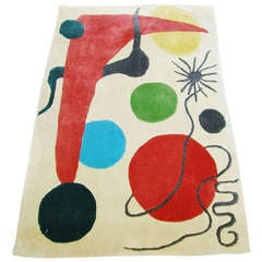 Abstract Rug/Tapestry in the Style of Joan Miró