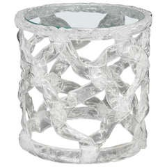 A Tony Duquette Clear Taffy Side Table