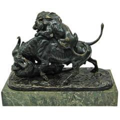 Fine Continental Bronze Animalier Group