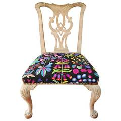 Queen Anne Chair with Josef Frank Upholstery