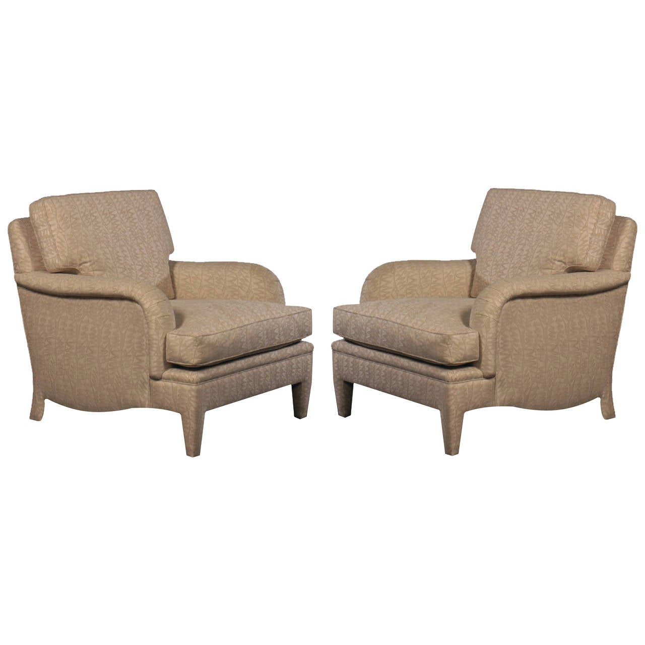 Pair of André Arbus /Samuel Marx Style Club Lounge Chairs