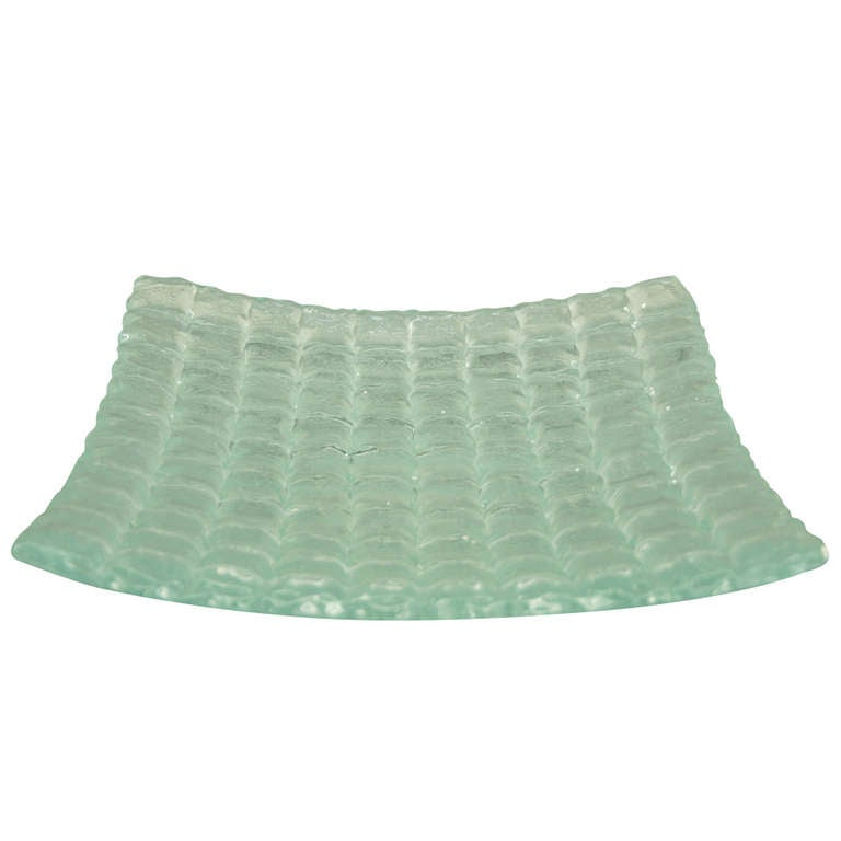 Remarkable Large Modern Glass Dish