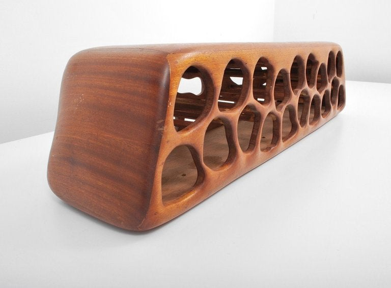 Gorgeous Mid Century Walnut Wine Rack American For Sale