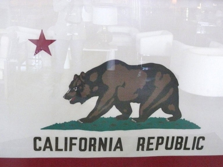 Massive Vintage California State Flag At 1stdibs