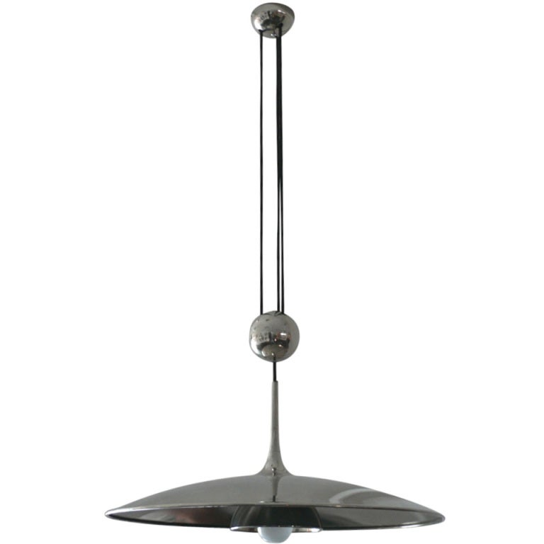 florian schulz counter balance pendant light at 1stdibs. Black Bedroom Furniture Sets. Home Design Ideas