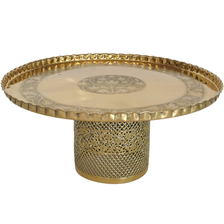 Ornate Brass Coffee Table At 1stdibs
