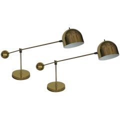 Brass Counter Balance Table Lamps