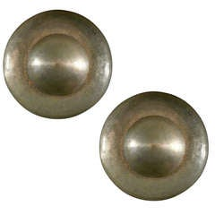 Hammered Brass Dome Sconces