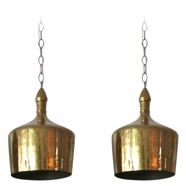 Heavy Brass Jug Pendants