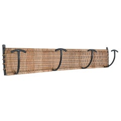 Wicker and Iron Wall Rack