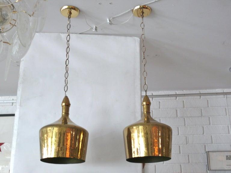 Heavy Brass Jug Pendants 6
