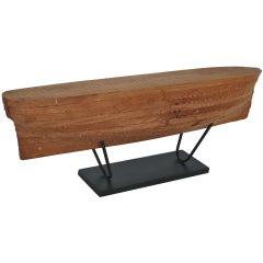 Solid Wood Boat Model
