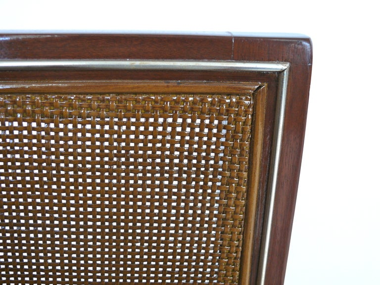 Caned Leather Bench For Sale 2