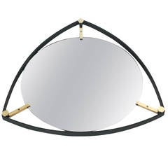 Triangular Italian Floating Mirror