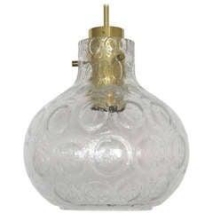 Petite Textured Glass Globe Pendant