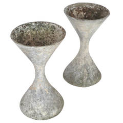 Pair of Architectural Planters by Willy Guhl