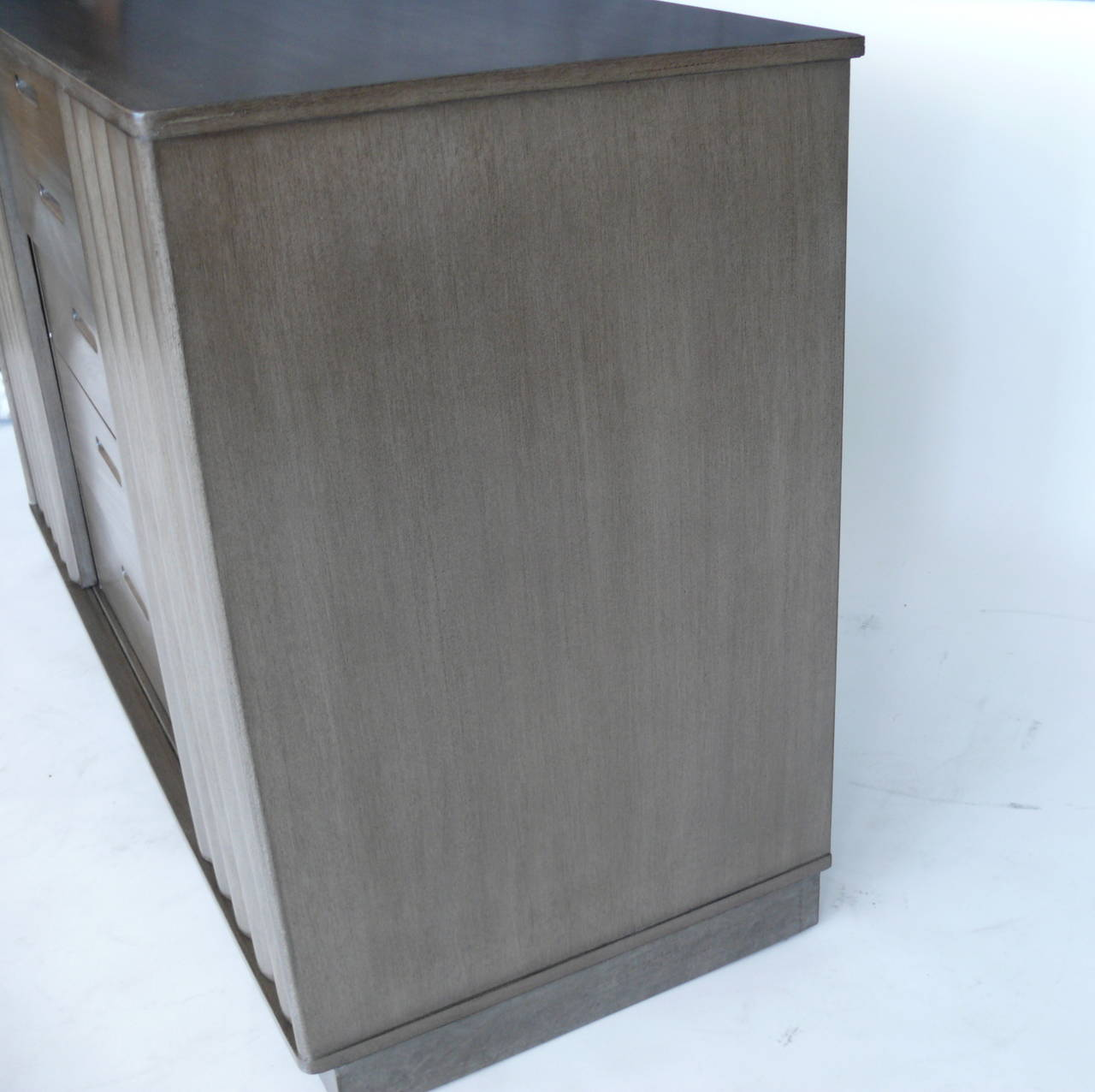 Leather Edward Wormley for Dunbar Cabinets For Sale