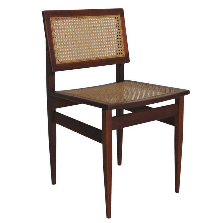 Teak And Caned Chair At 1stdibs